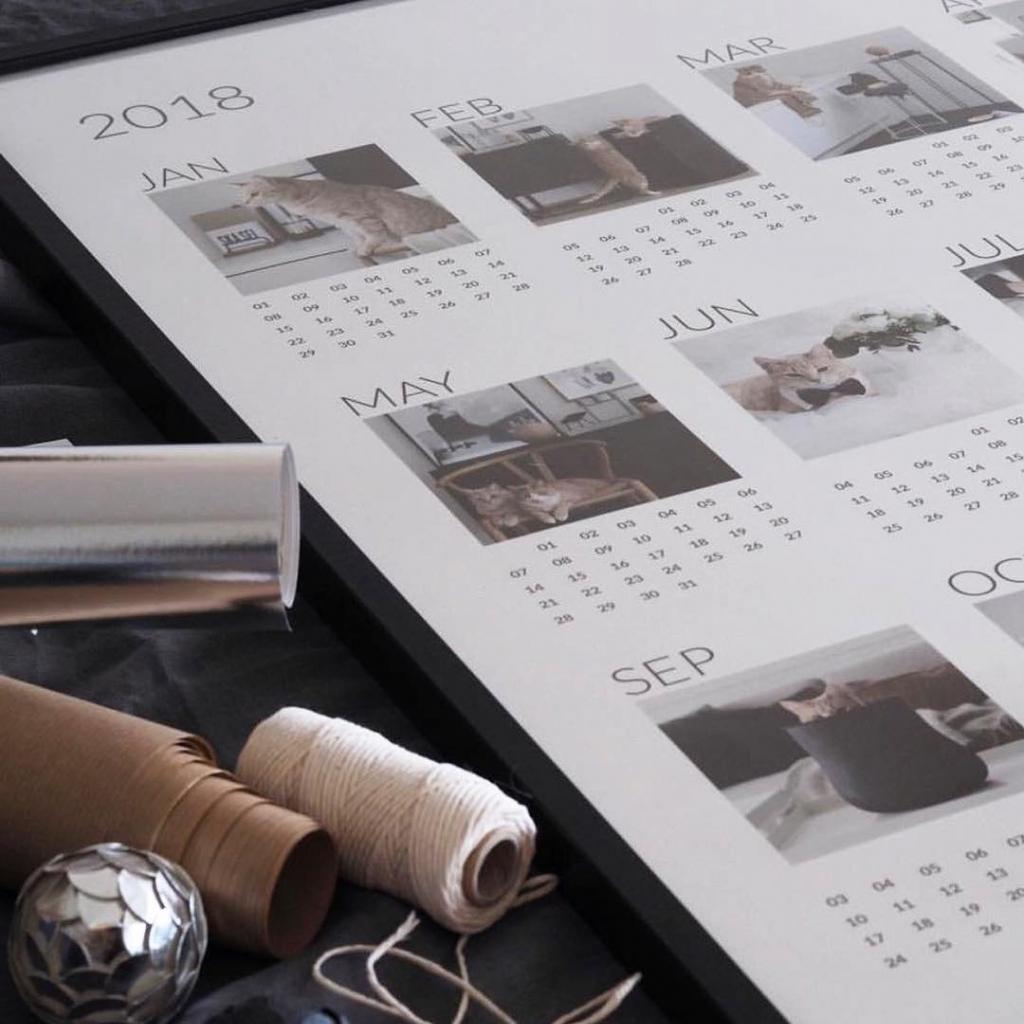 Календарь-постер с фотографиями цена от 1 100 руб