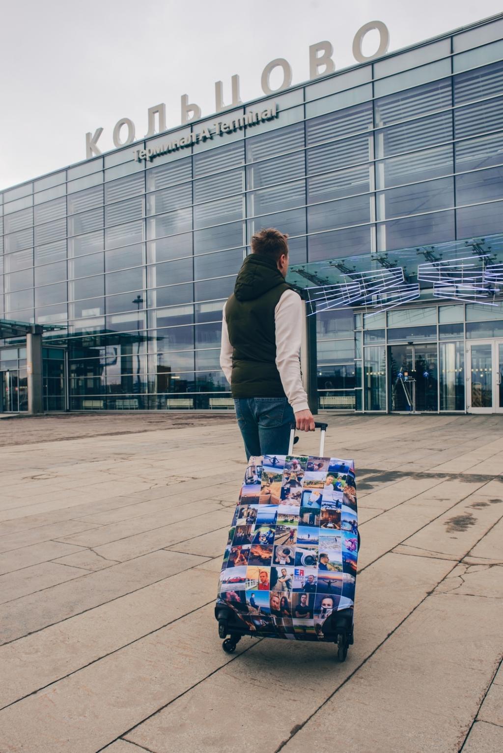 купить чехол на чемодан на колёсах