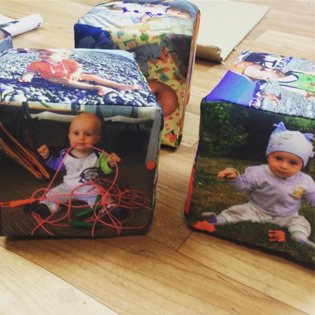 Мягкие кубики с фотографиями