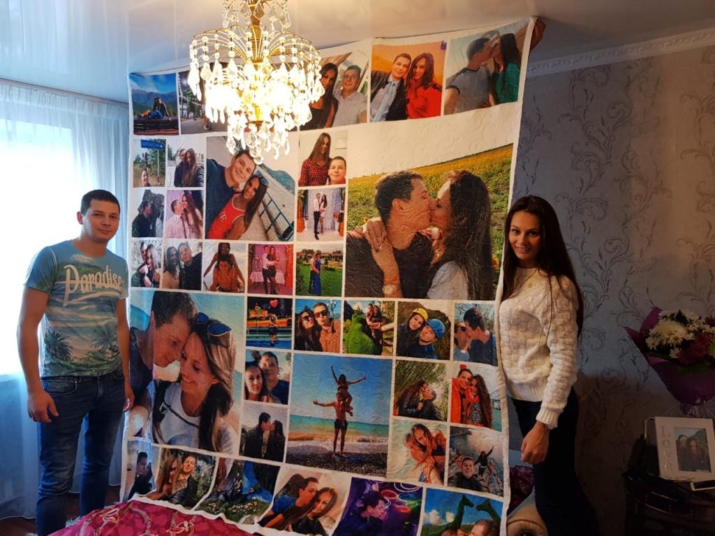 Плед 200 на 220 см со своими фотографиями в подарок
