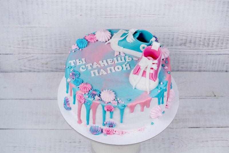 Оригинально о беременности через торт