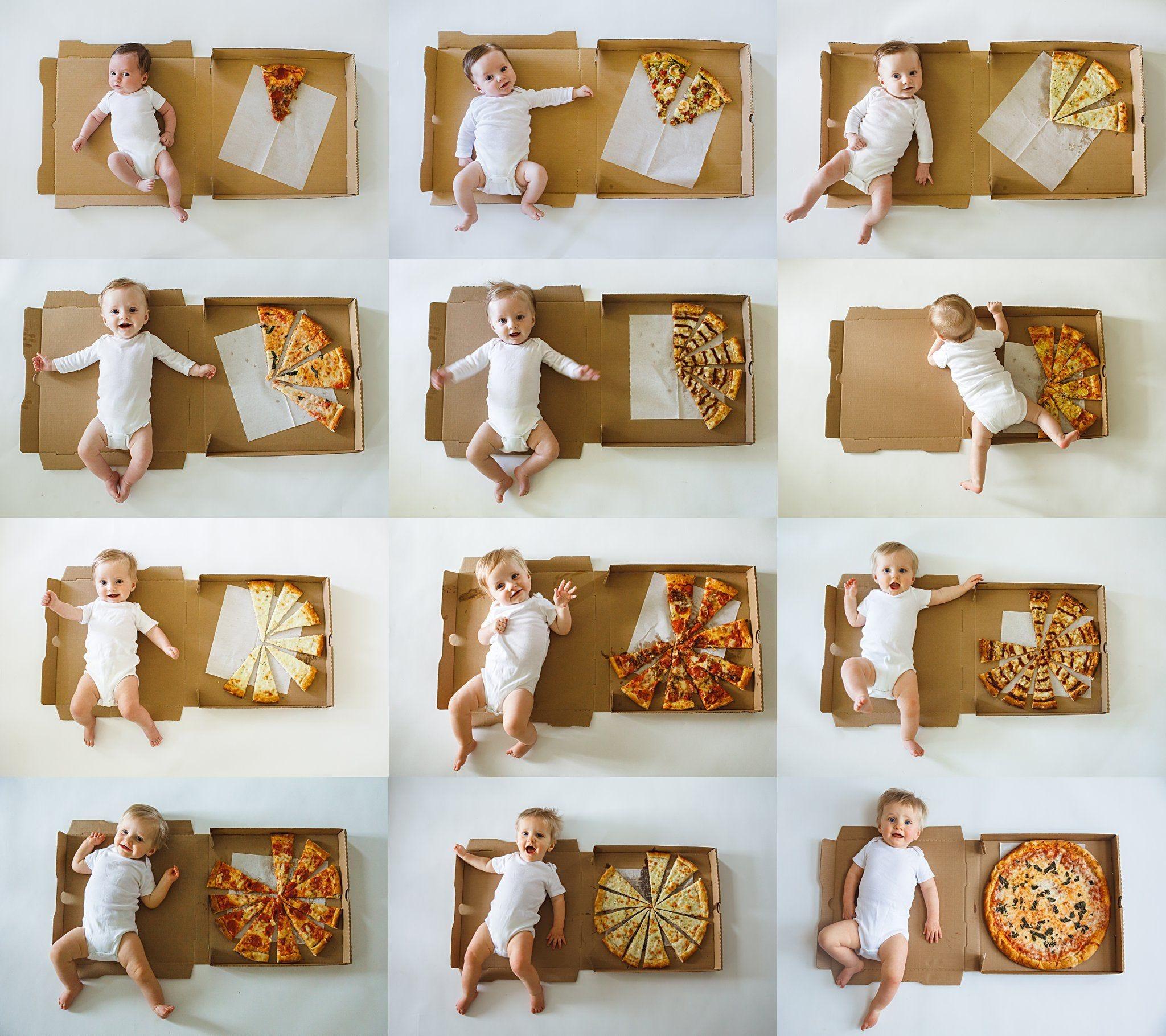 креативные фото ребенка до года