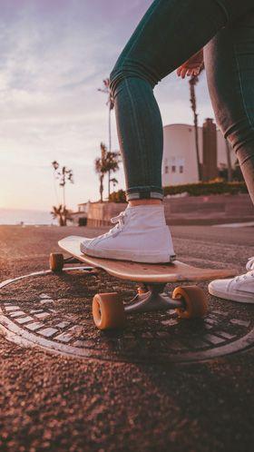 Как красиво сфоткаться на скейте девушке