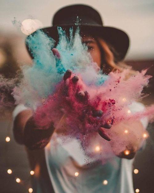 как можно сделать красивую фотографию с краской