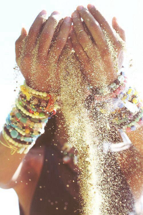 идея для фотографии с песком