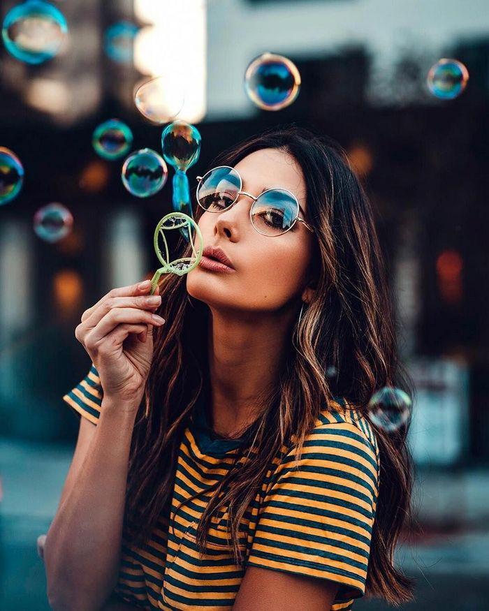 Как красиво сфотографироваться с мыльными пузырями