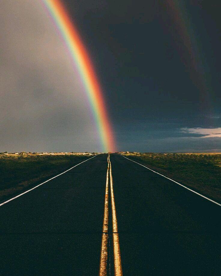 идея для фотографии с радугой