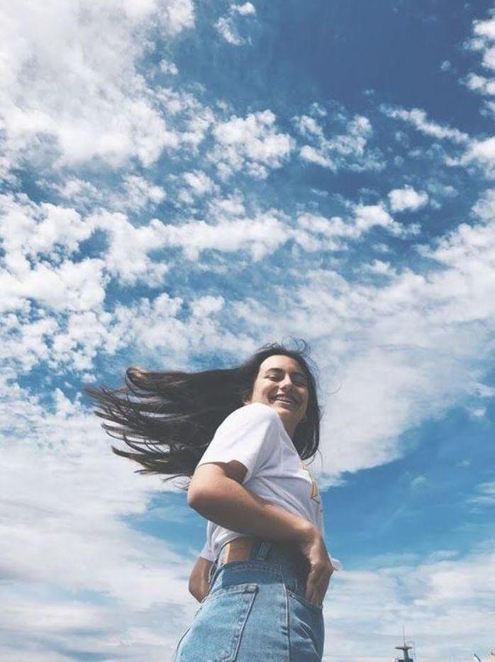 идея для фотографии летом с небом