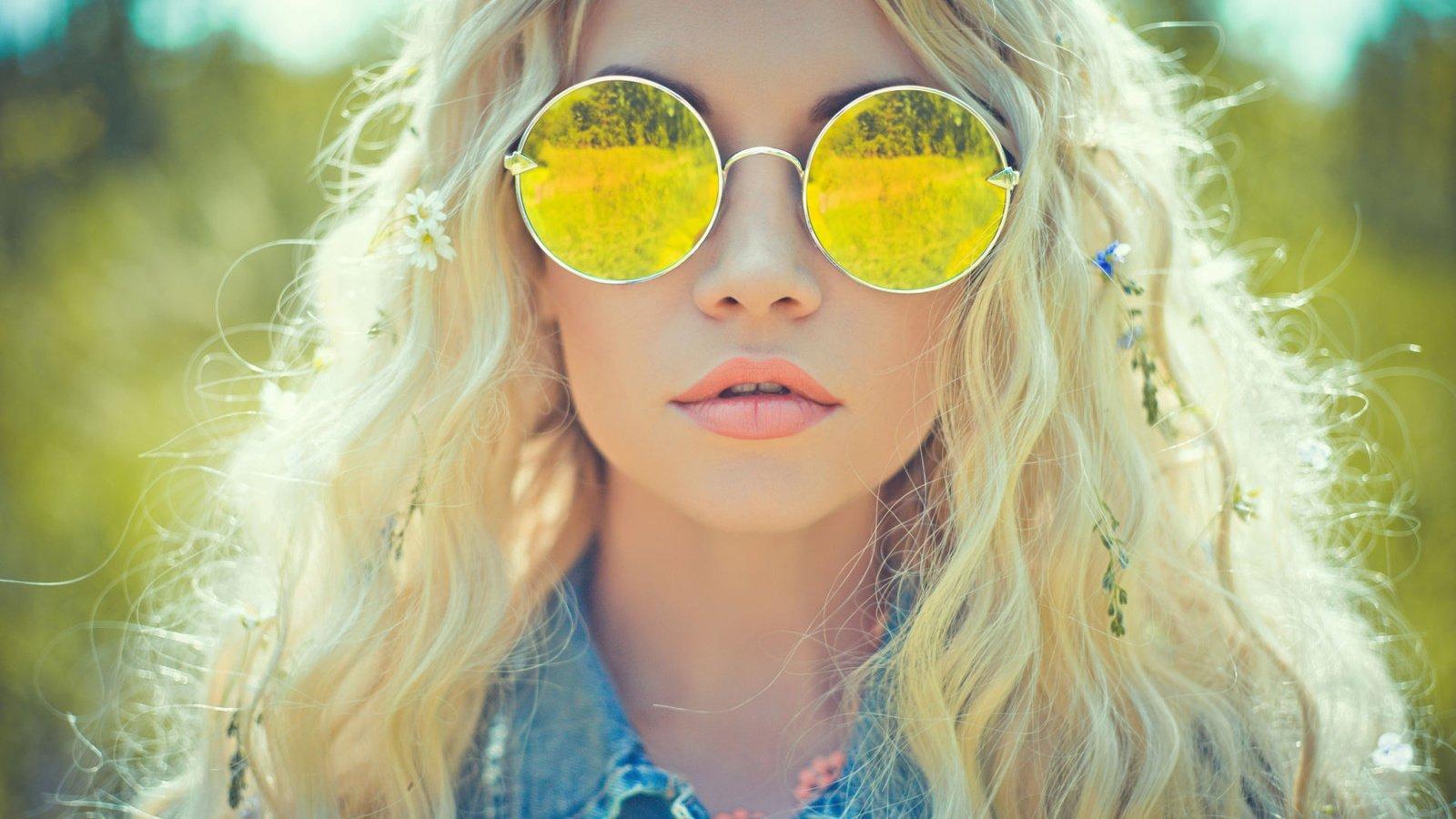 как сделать красивый портрет в солнечных очках