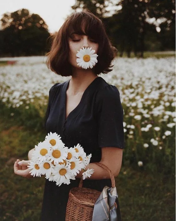 как красиво сделать фото с букетом цветов