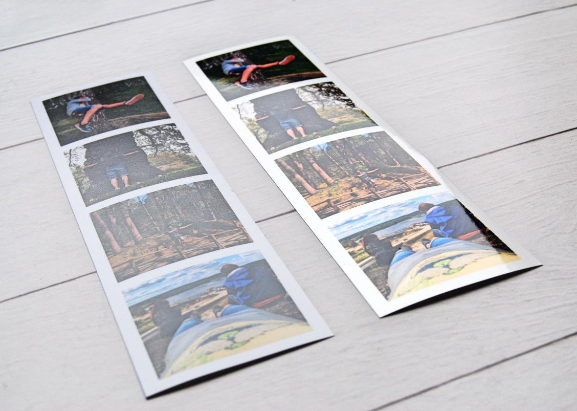 Магнитные полоски с фотографиями как из фотобудки