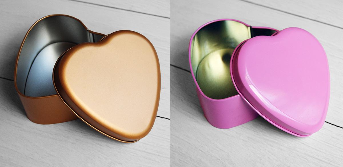 Коробочка в форме сердечка из металла