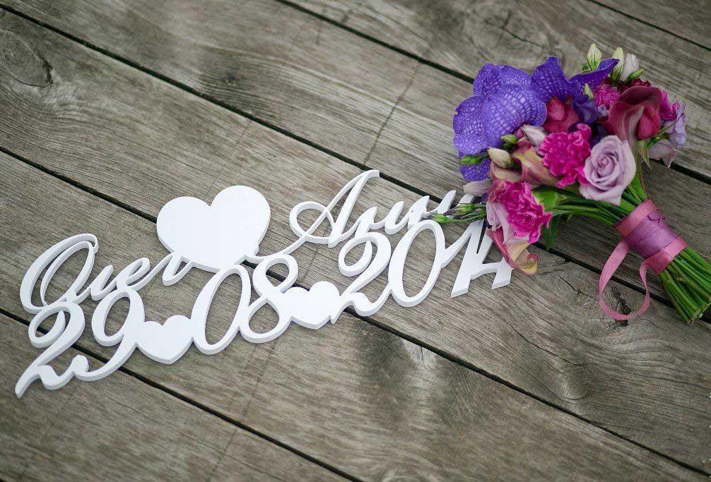 Фамилия из дерева на свадьбу