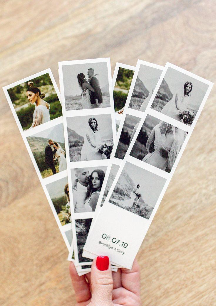 Свадебные полоски как из фотобудки с датой бракосочетания