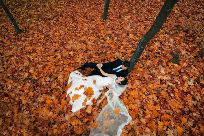 идеи свадебной фотосессии осенью