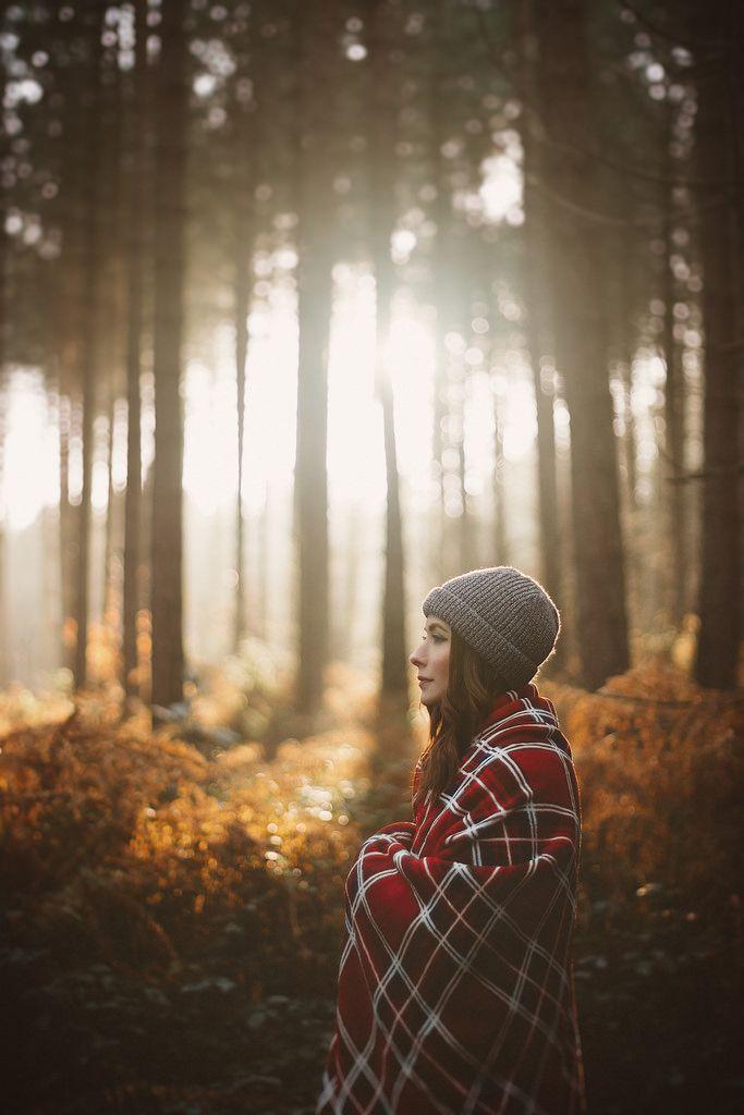 Как сделать красивый портрет осенью в лесу