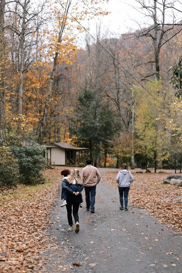 классное фото с семьёй осенью на природе