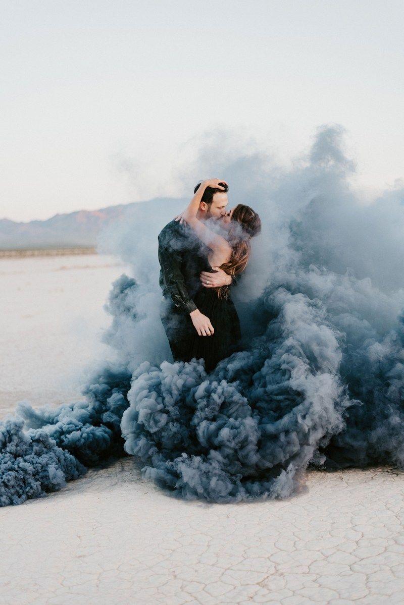 фотосессия для пары идеи с дымом