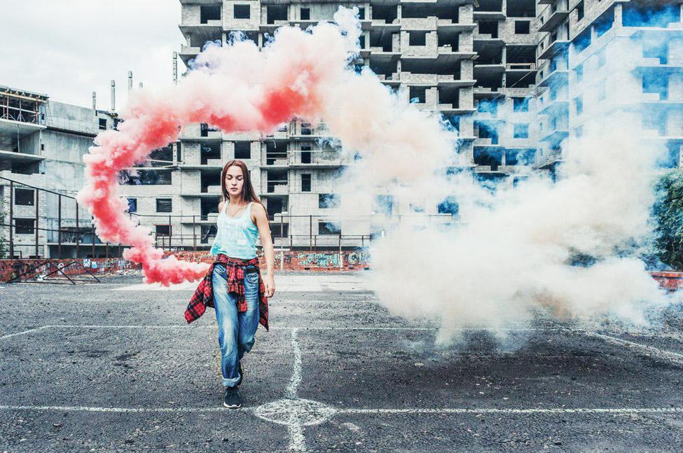 Фотосессия с дымовой шашкой