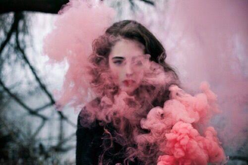 Как снять портрет с дымом