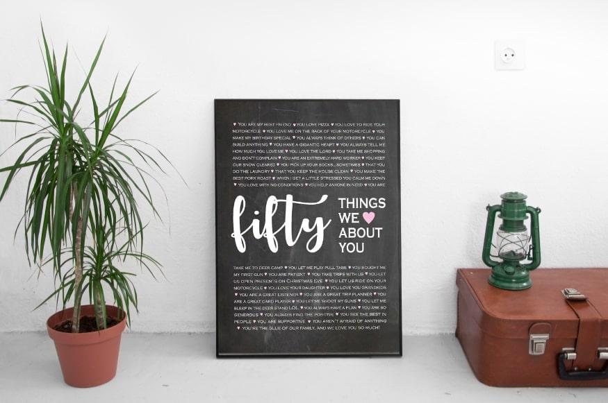 постер 50 причин почему я тебя люблю купить в екатеринбурге