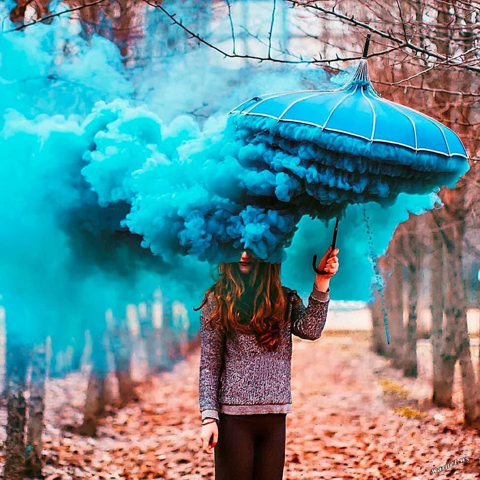 купить дымовую шашку с цветным дымом для фотосессии с зонтом