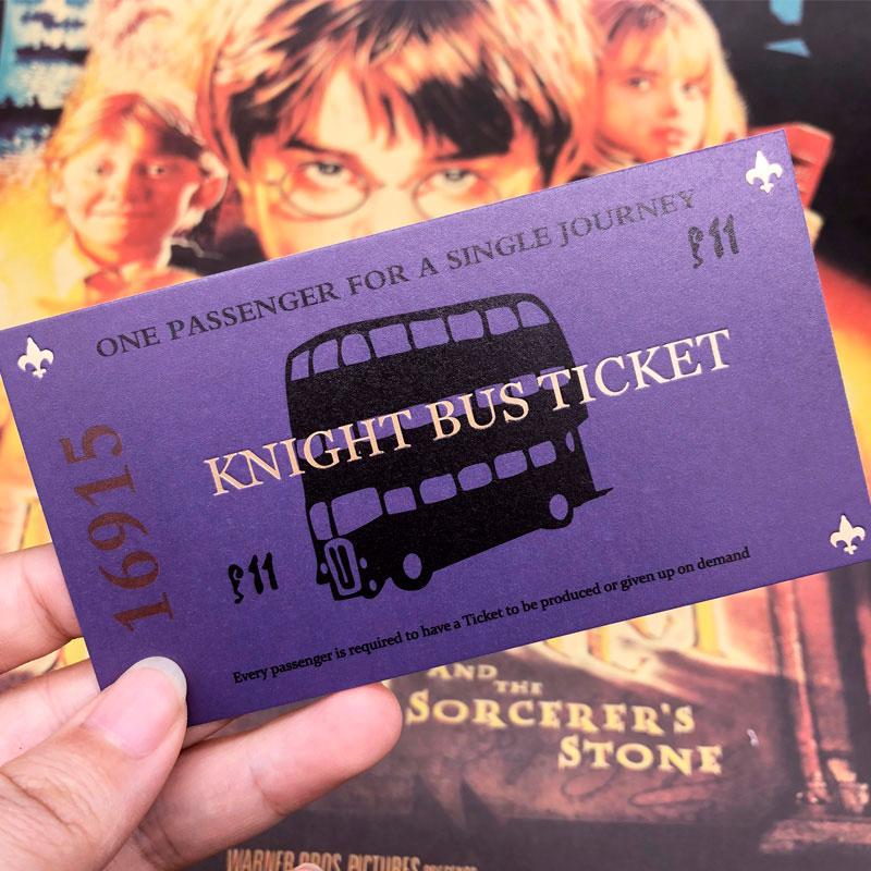 билет на автобус ночной рыцарь из гарри поттера