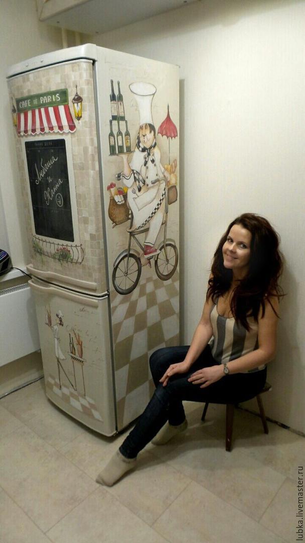 Ручная роспись холодильника