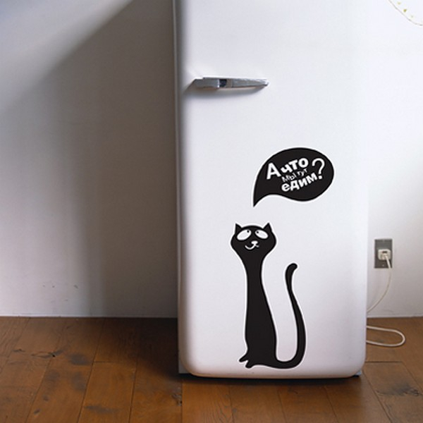 Виниловые наклейки на холодильник