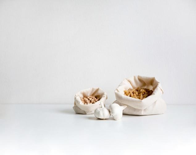 Пакеты для фруктом и орехов из ткани