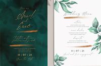 свадебные приглашения psd шаблон для скачивания