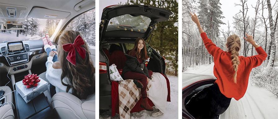 фото в автомобиле на зимней дороге эстетика