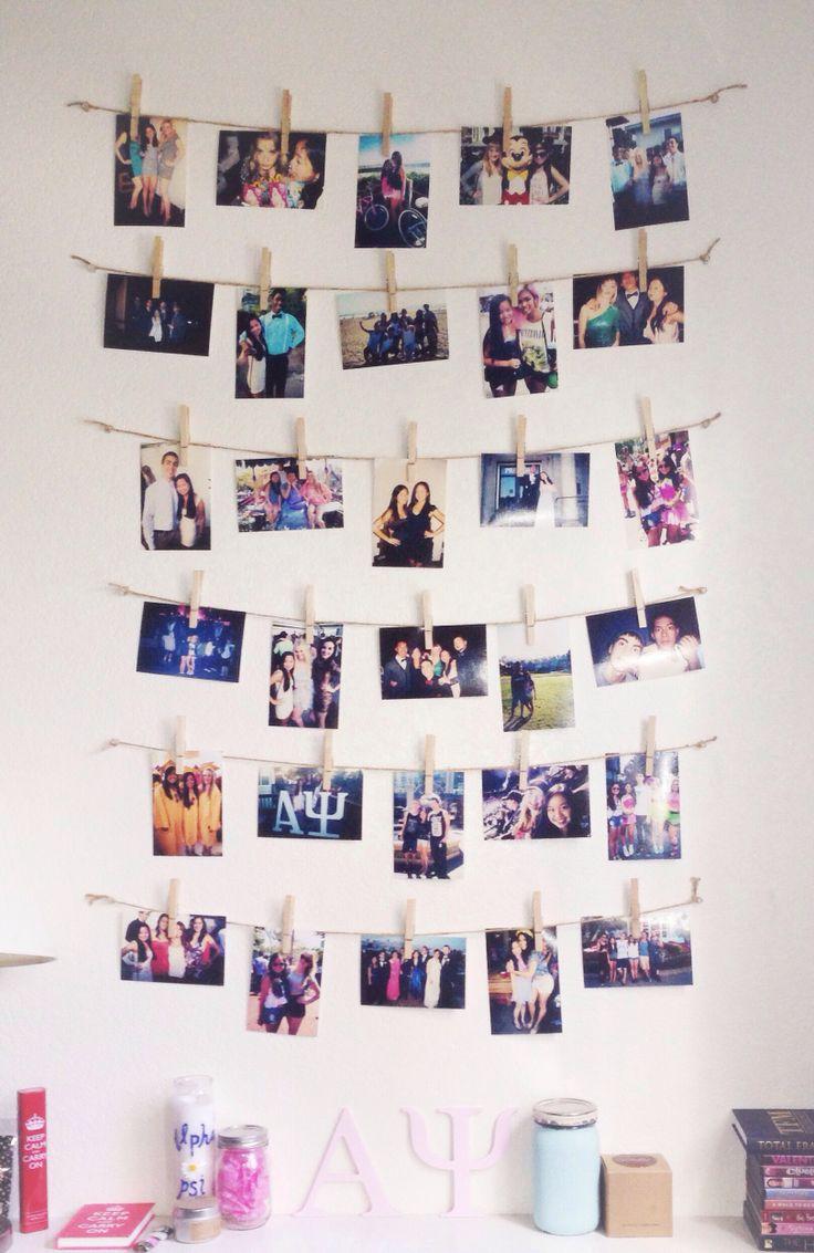 как украсить комнату подростка с помощью фотографий