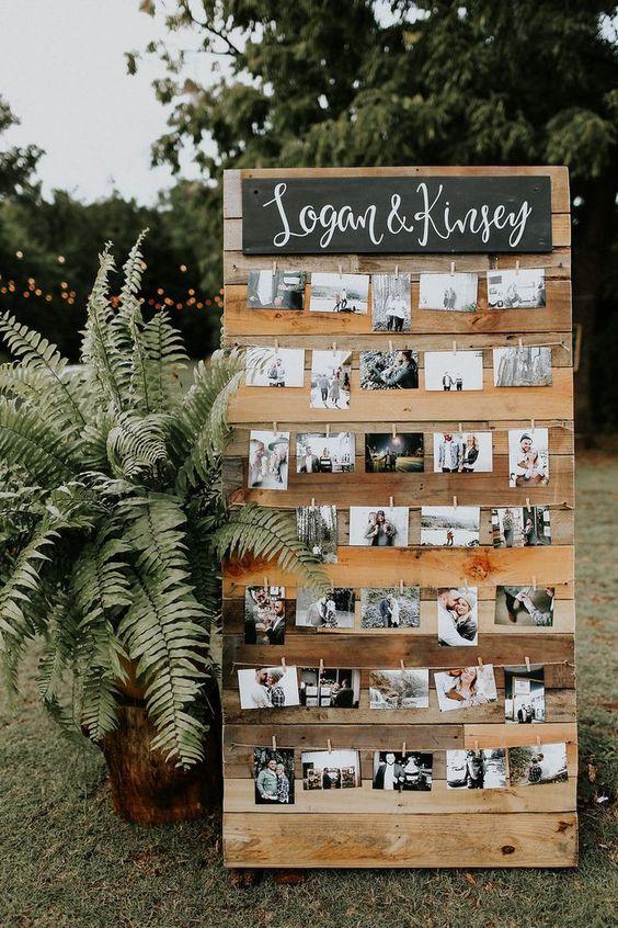 свадебный декор фотокарточками