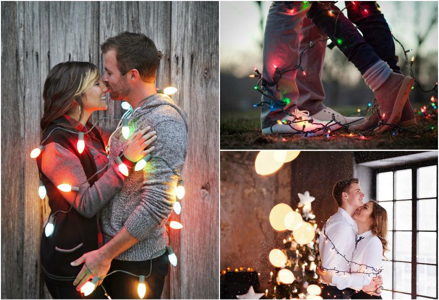 идея новогодней лавстори с гирляндой