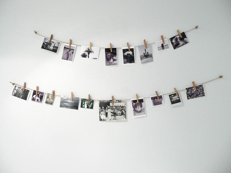 цветные прищепки для декора фотографиями