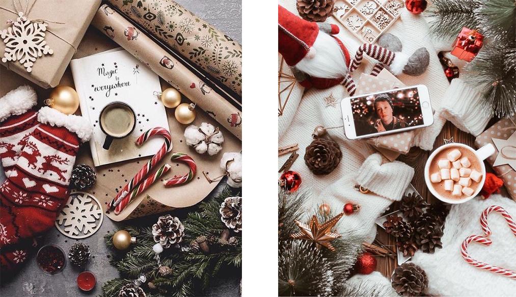 идея красивого новогоднего флэтлэя