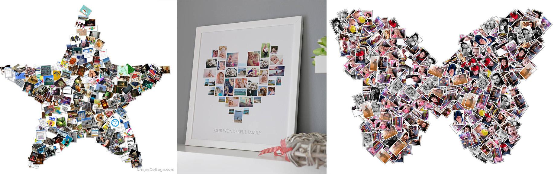 фотоколлаж в виде сердца заказать онлайн макет бесплатно
