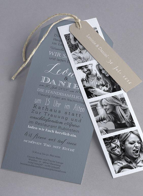 свадебное приглашение из фотобудки