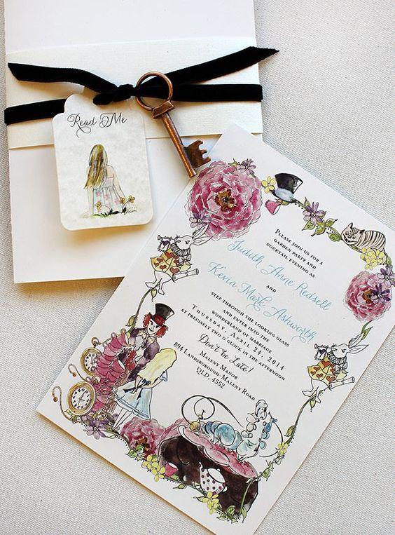 пригласительные на свадьбу алиса в стране чудес скачать шаблон