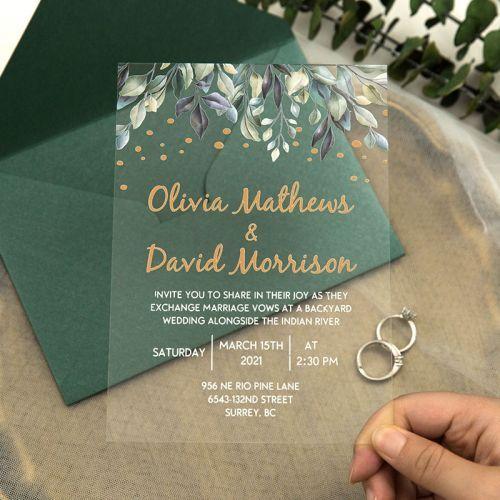 минималистичные свадебные приглашения